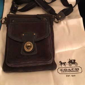 COACH LEATHER CROSSBODY BAG 7 by 9 AUTHENTIC
